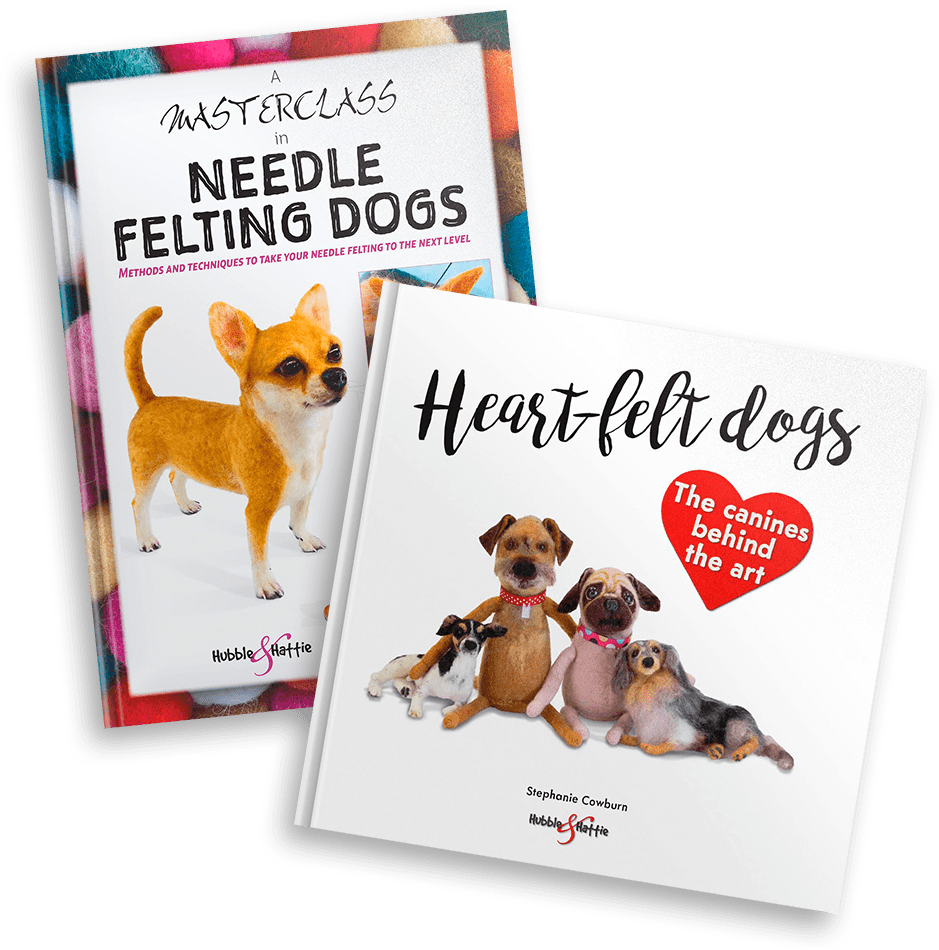 Heart-felt dogs and A Masterclass in Needle Felting Dogs twin pack