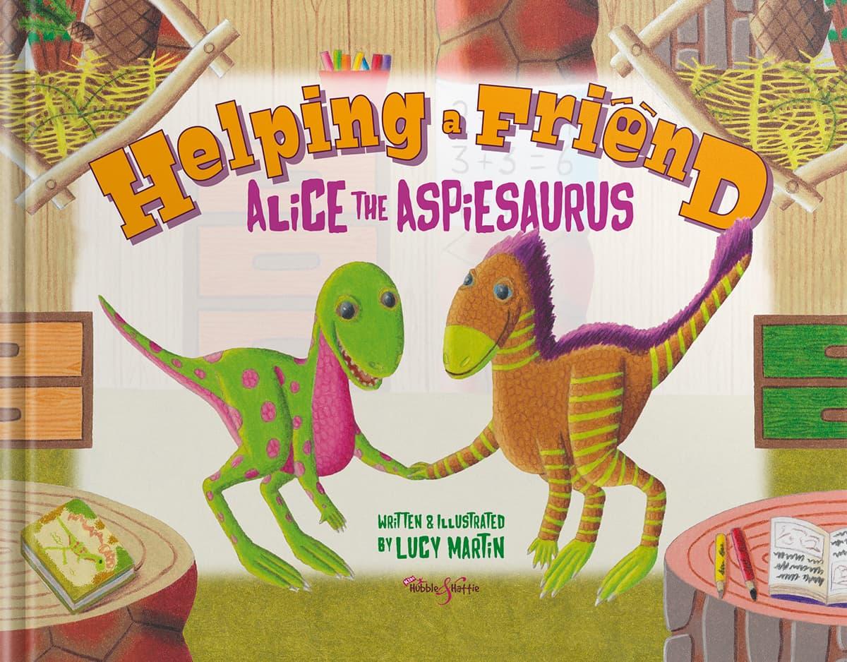 Helping a friend. Alice the Aspiesaurus