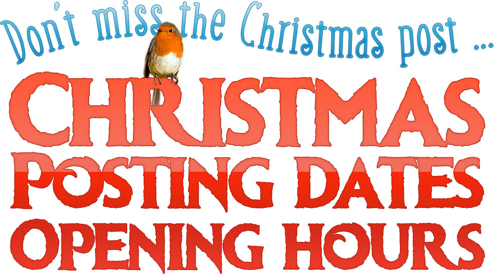 Christmas posting dates and office opening hours