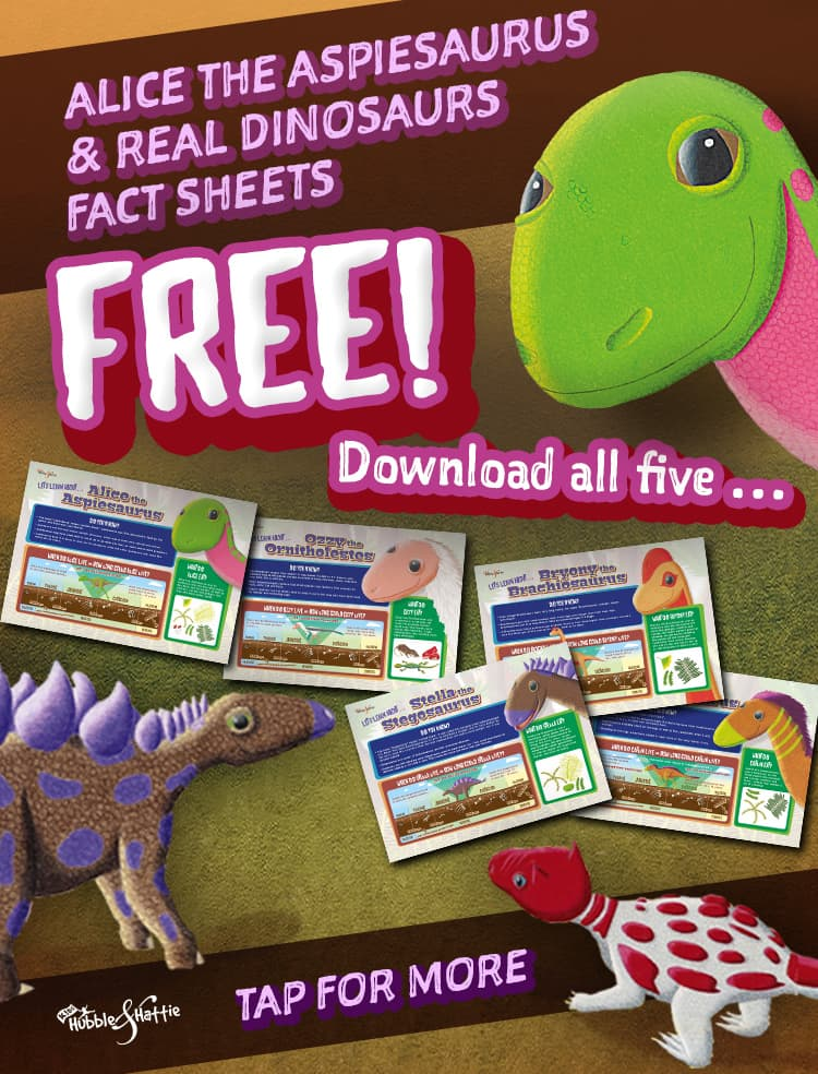 Download your FREE Alice the Aspiesaurus Dinosaur Fact Sheets!