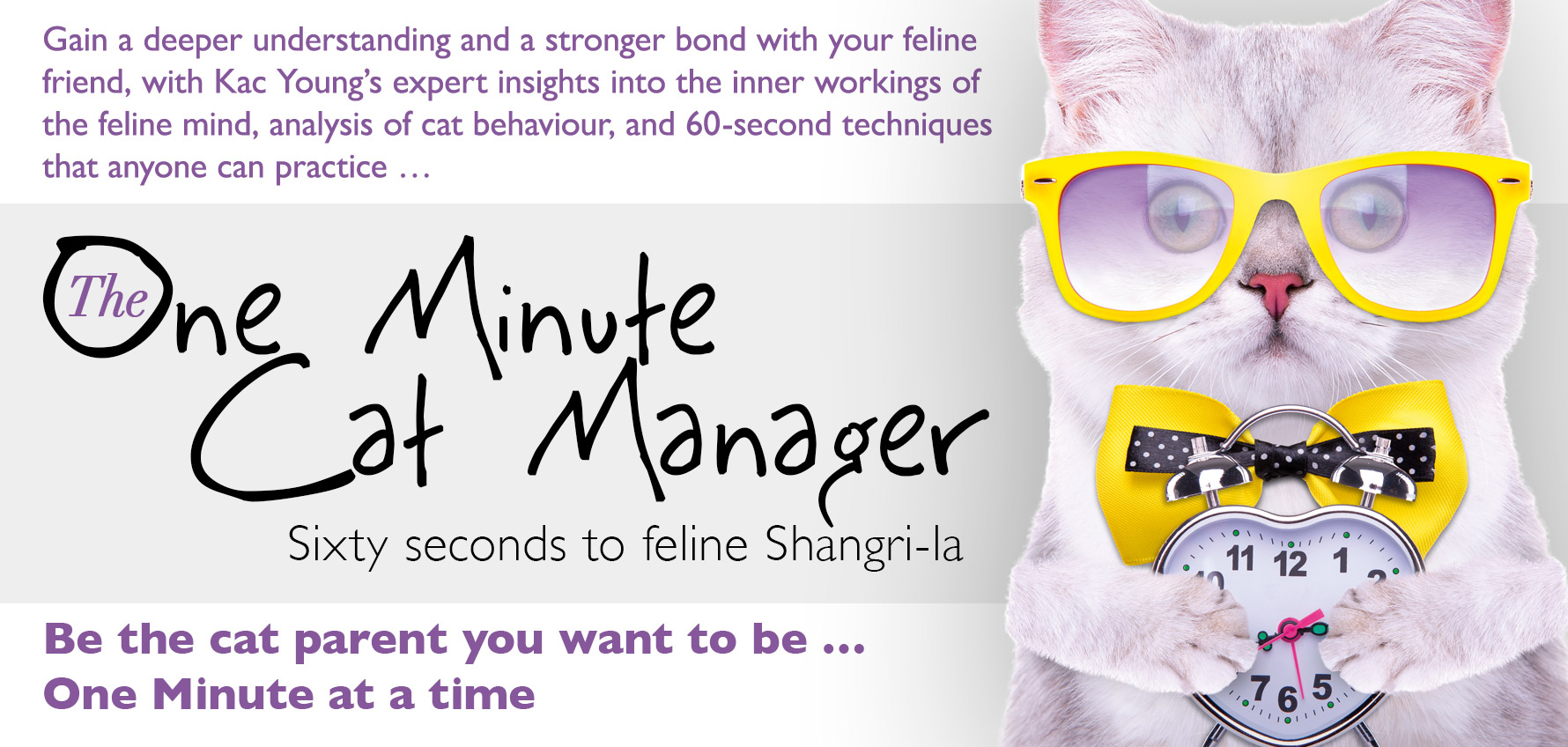 The One Minute Cat Manager by Kac Young – 60 seconds to feline Shangri-La!