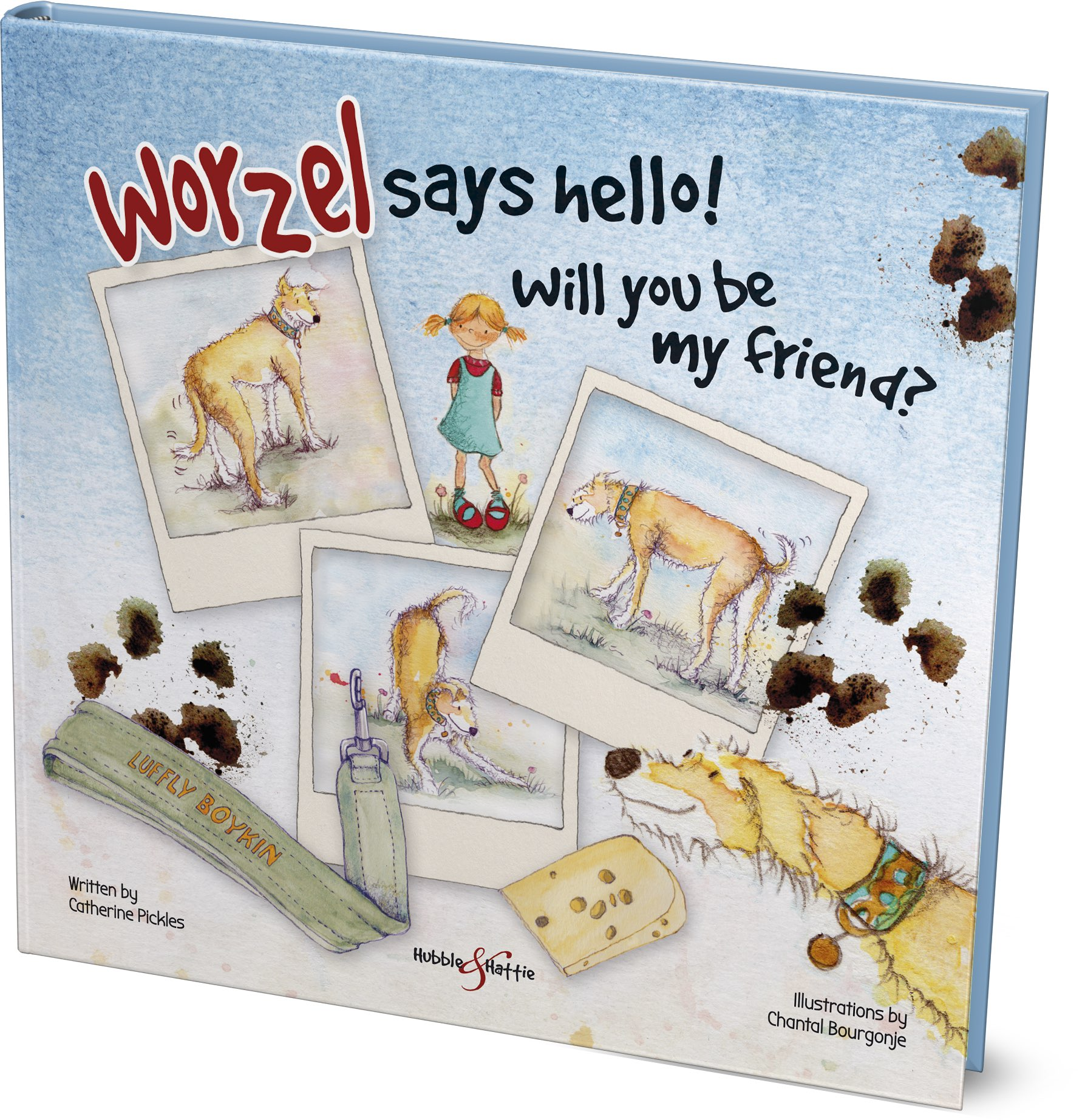"""Meeting children can be very scary for Worzel, an enormous lurcher with """"issues,"""" although he really does want to make new friends. Gently learn how to make friends with Worzel and other dogs like him."""